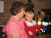 Playing with the nutcrackers with Grandma